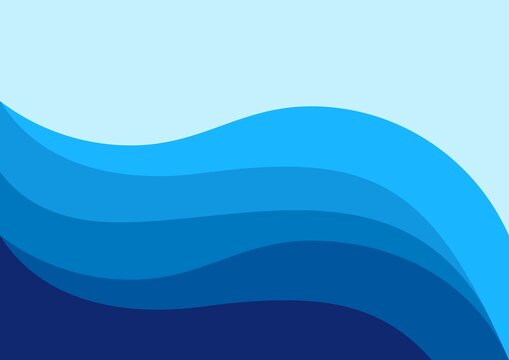 abstract illustration of sea water, design vector illustration of backround blue color way line pattern sea blue water