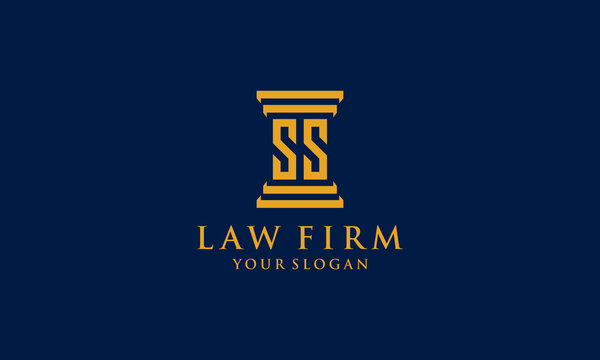initial S And S law firm logo symbol template