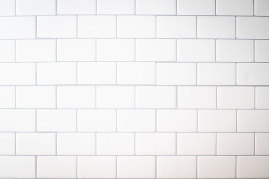 white subway tile kitchen wall for background image
