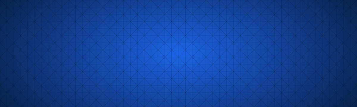 Simple blue vector header composed of a triangular mesh. Modern seamless pattern banner background