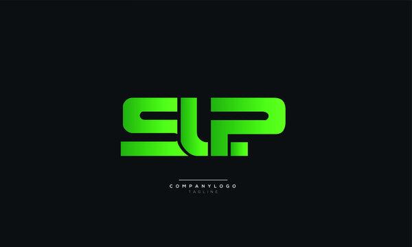 SLP Letter Business Logo Design Alphabet Icon Vector Monogram