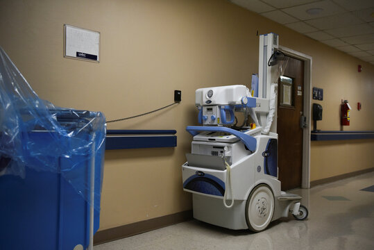 Medical equipment is seen at United Memorial Medical Center in Houston