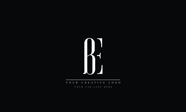 BE, EB, B, E Letter Logo Design with Creative Modern Trendy Typography