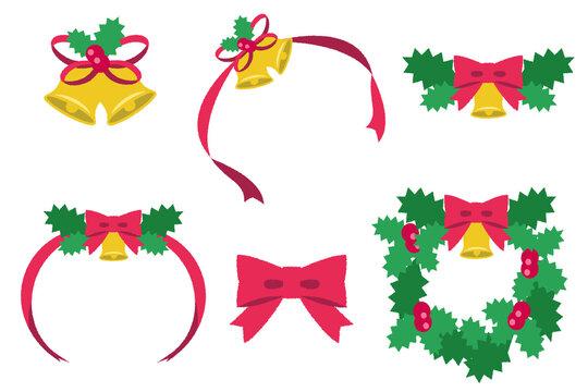 クリスマス_装飾リボンとリース