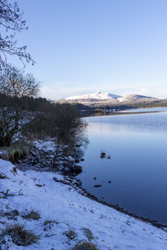 Carron Valley Reservoir in the winter