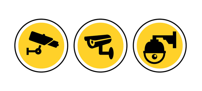 CCTV camera icon vector security video sign. cctv symbol silhouette safety system icon logo