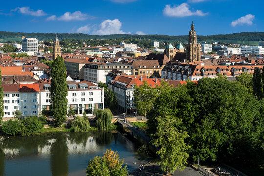 Blick über Heilbronn nach Osten