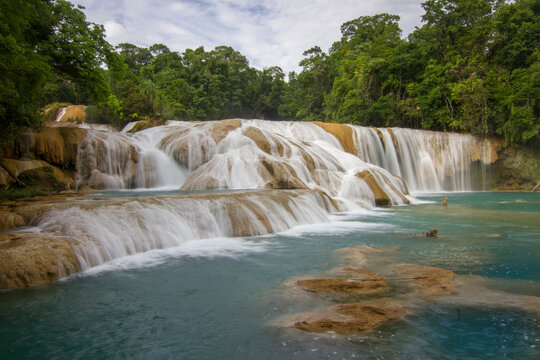 Waterfalls, Agua Azul, Chiapas, Mexico