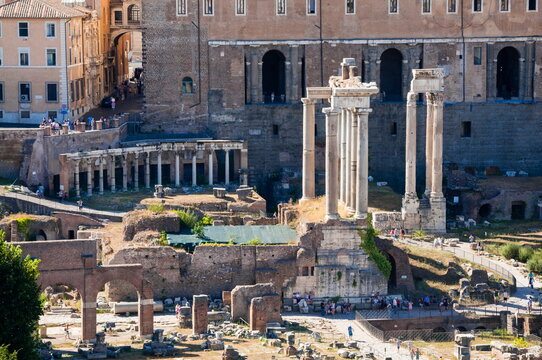 Roman Forum, seen from Palatine Hill, Rome, Lazio