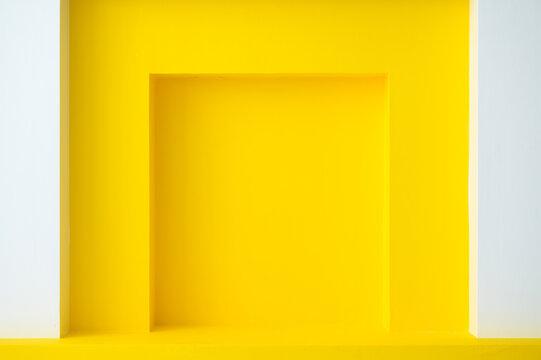 Yellow architecture window