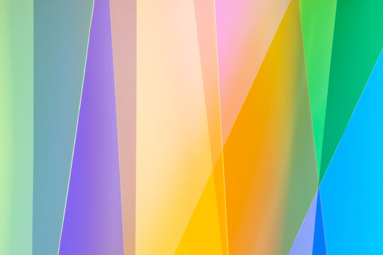 Transparent colorful strips