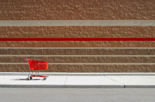 Shopping Cart Outside of Retail Store