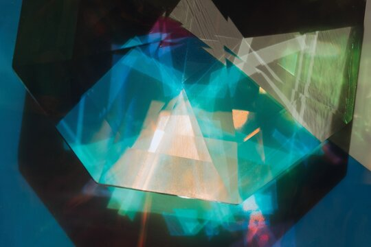 Crop crystal in colorful light