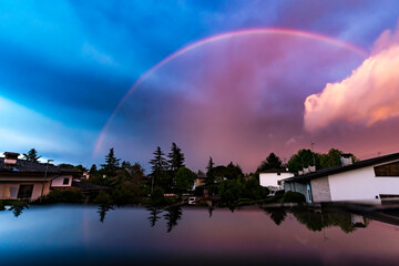 Amazing rainbow After The Thunderstorm Fotomurales