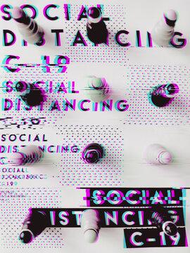 Social distancing concept [glitch]