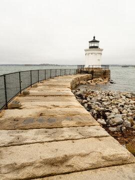 Lighthouse on the Coast of Portland, Maine