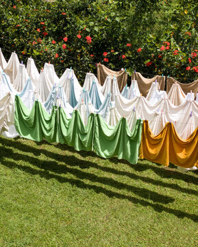Artfully Arranged Colorful Clothing