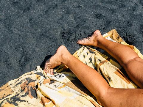 Sun Bathing On Vacation
