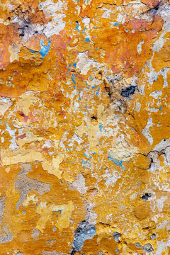 Decayed cracked rough abstract wall surface