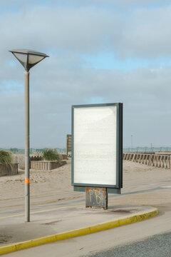 Empty Advertising Billboard