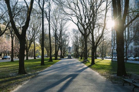 Park in Back Bay Neighborhood in Boston