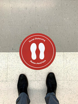 Social Distancing Please Stand Here