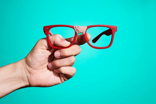 fixed red eyeglasses