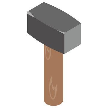 Sledge Hammer icon design for maintenance