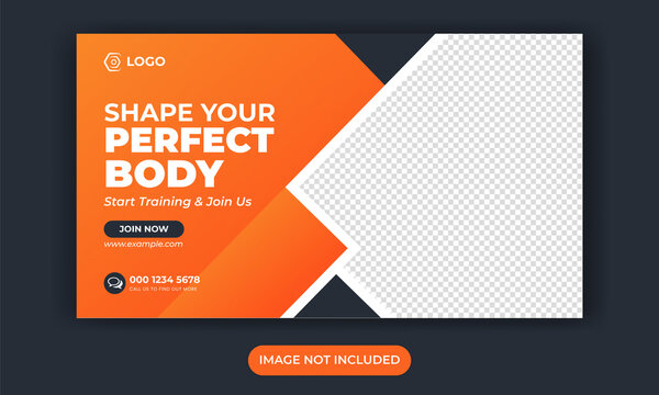 Fitness social media post or work out banner or gym social media template or sport banner template or fitness and gym social media banner template or promotional banner for social media post design