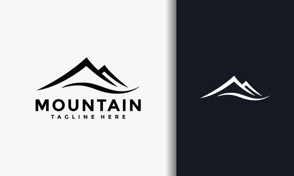 simple elegant mount logo