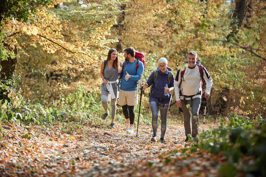 Family hiking; Quality family time concept