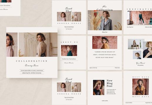Minimalist Fashion Social Media Post Layouts