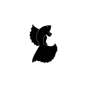 Betta fish vector silhouette