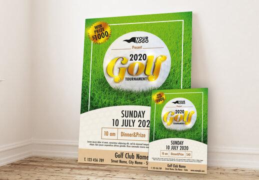 Golf Tournament Poster Layout