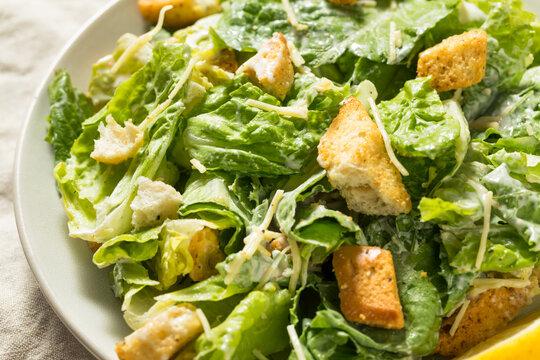 Homemade Healthy Romaine Caesar Salad
