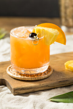 Refreshing Boozy Rum Runner Cocktail