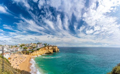 Wall mural Landscape with Carvoeiro town, Algarve, Portugal