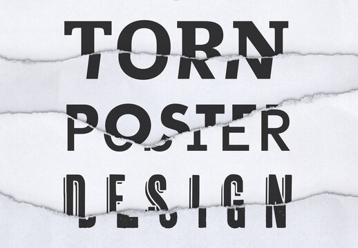 Mixed Torn Text Poster Layout