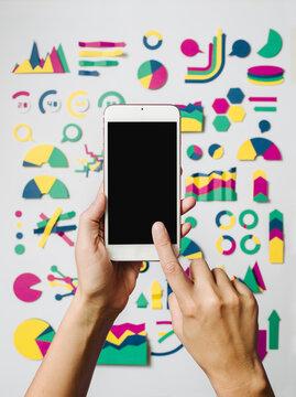 Examining statistics with phone