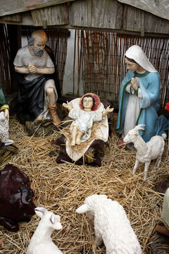Model of the birth of jesus in a stable