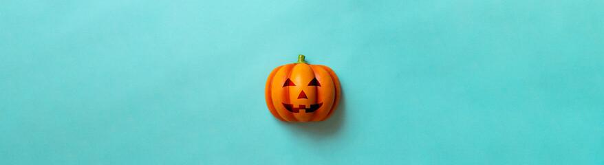 Bright halloween pumpkin. Backgrounds, posters, greeting cards, etc. 明るいデザインのハロウィンのカボチャ。背景、ポスター、グリーティングカードなど