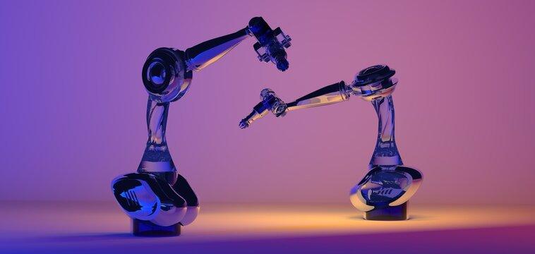 industrie 4.0 robot 3d automation ai future digital