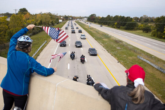 Trump supporters gather for a car parade