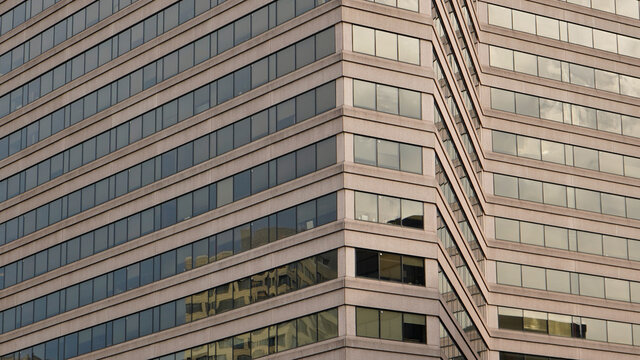 modern office building in the city, downtown Silver Spring (USA, Maryland)