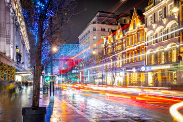 Fotomurales - Oxford street in London at Christmas time