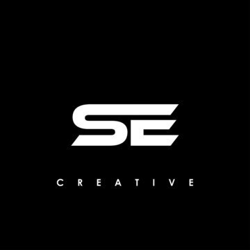 SE Letter Initial Logo Design Template Vector Illustration