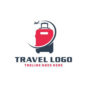 holiday travel suitcase logo