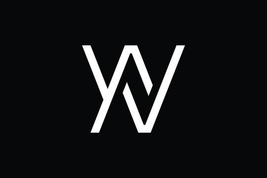 Minimal Innovative Initial WN logo and NW logo. Letter W N NW WN creative elegant Monogram. Premium Business logo icon. White color on black background