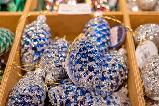 Christmas decorative glass balls for sale at the christmas tradition market