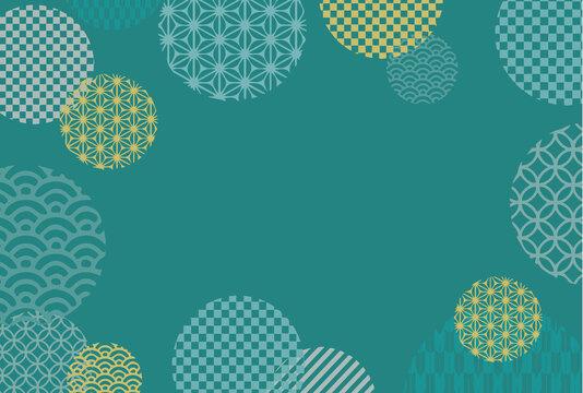 和柄の幾何学模様の背景イラスト